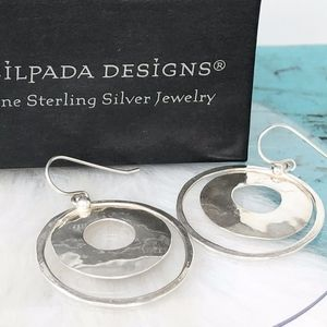 Silpada Sterling Perspectiva Circle Earrings W1322